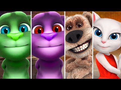 Colors Learn My Talking Angela Wrong Body Colours for Kids Animation Education Cartoon Compilation