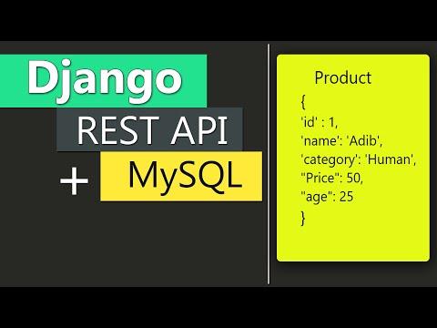 Complete API Development -- Django Rest Framework + MySQL For Beginners    By Great Adib