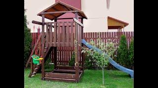 Детский игровой комплекс для улицы с горкой и скалодромом «Компакт – 2» от компании Семейный уголок - видео