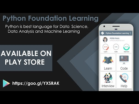 Python Foundation Learning : Python Tutorials - Free Android
