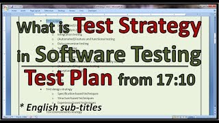 Example Agile Test Strategy, Agile Test Plan