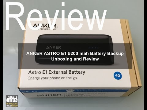 , title : 'Anker Astro E1 5200mAh Ultra Compact Portable Charger: Review and Unboxing'