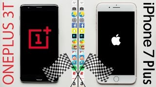 OnePlus 3T vs. iPhone 7 Plus Speed Test