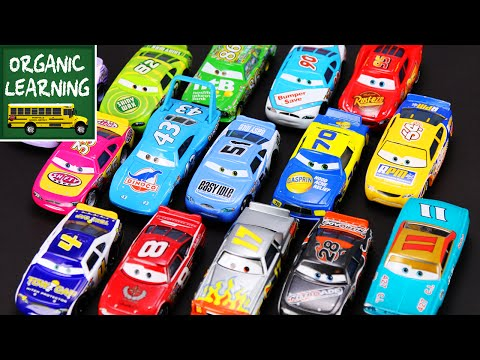 Kids Disney Pixar Cars Teaching Numbers - Lightning McQueen - Learning Numbers Video For Kids