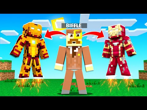 Making an IRON MAN ARMY on Crazy Craft