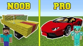 Minecraft: NOOB VS PRO!!! - CARS IN MINECRAFT!