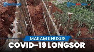 Hujan Deras akibatkan Lahan Makam Khusus Covid-19 TPU Jombang Ciputat Longsor