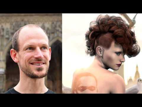 Der Virus herbeirufend den Haarausfall