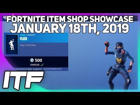 Fortnite Item Shop *NEW* FLUX EMOTE! [January 18th, 2019] (Fortnite Battle Royale)