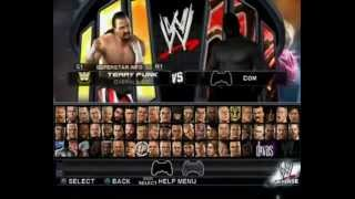 WWE SMACKDOWN VS RAW 2011 PS2 ALL CHARACTERS AND FINISHERS.