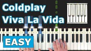 Viva la vida notes for piano easy