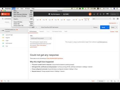 ASP .NET Core - Fix Problem Postman cannot access due to SSL ...
