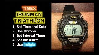 Wie man einen Timex Ironman Triathlon einstellt und Chrono, Timer und Alarm benutzt