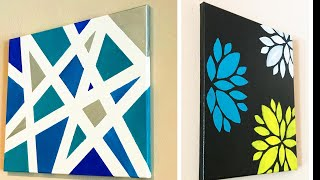 DIY Easy Canvas Arts / Wall Decor / How To Create A Stencil Arts  | #005 |