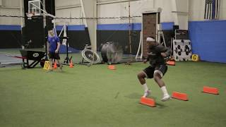 Football cone drills for agility and the Snail for strength