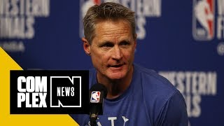 Steve Kerr Blasts NFL for National Anthem Policy - Video Youtube