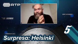 O convidado surpresa desta semana foi Darko Perić, o Helsinki da série La Casa de Papel.  Vê o programa, na íntegra, na RTP Play! https://www.rtp.pt/play/p6662/5-para-a-meia-noite  Subscreve o Canal do 5 Para a Meia-Noite! http://www.youtube.com/subscription_center?add_user=5meianoite   Site do 5 Para a Meia-Noite! http://www.rtp.pt/5meianoite    Facebook! https://www.facebook.com/5meianoite  Twitter!  https://twitter.com/5mnoite  Instagram! https://www.instagram.com/5meianoite