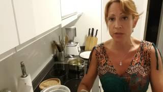Cocinado con vaporera de bambú
