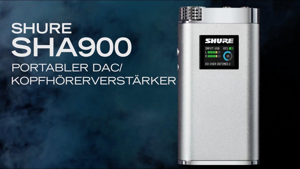Shure SHA900 portabler Kopfhörerverstärker/DAC