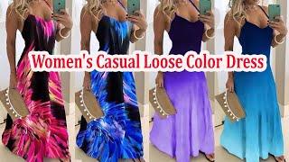 Women Casual Loose Dress ।। Loose Summer Dress Colors ।। Smart Media