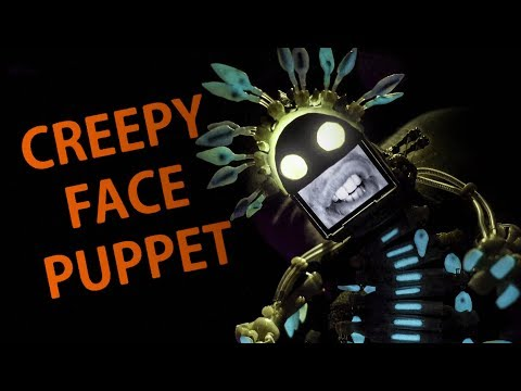 Creepy but Incredible Human Face Puppet