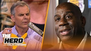 Magic Johnson leaves the Lakers, Colin Cowherd reacts to Jeanie Buss' response | NBA | THE HERD