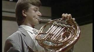 Rare Footage! 14-year-old Radek Baborák plays Weber Concertino for Horn,op 45 Part 2 of 2