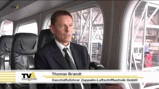 preview picture of video 'Fluggerät mit Tradition: in Friedrichshafen lebt der Mythos Zeppelin wieder auf'