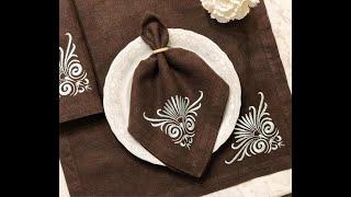 Шьём кухонный текстиль. Красивый угол на салфетке это просто!
