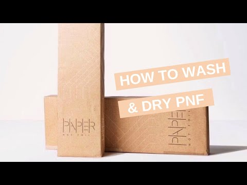 HOW TO WASH & DRY PAPERNOTFOIL