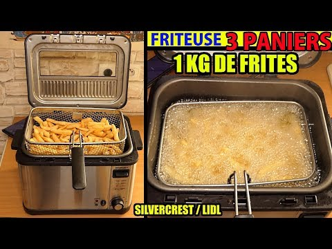 FRITEUSE 3 PANIERS LIDL SILVERCREST 2000W Deep Fryer Fritteuse Friggitrice
