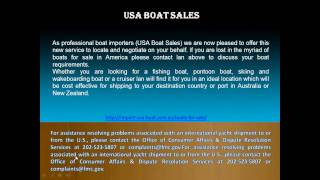 US Boat Sales - Import a boat from USA to Australia