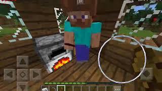 Minecraft Pocket Edition играем с братом выживание  (3 часть) добываем еду!