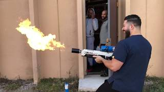 FLAME THROWER VS UFC FIGHTER JON JONES