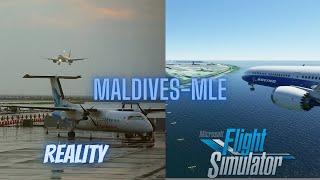 Maldives | Reality vs. Microsoft Flight Simulator