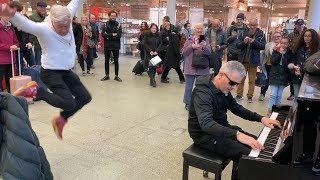 Piano Fight With Senior Citizen Kicks Off In The Mall