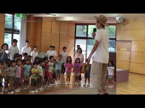 和光鶴川幼稚園朝の集会でタップダンスがありました