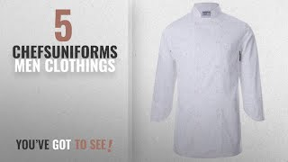 Top 10 Chefsuniforms Men Clothings [ Winter 2018 ]: White Chef Uniforms Unisex Long And Short Sleeve
