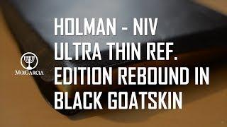 Holman NIV Ultrathin Ref. Edition Rebound in Black Goatskin