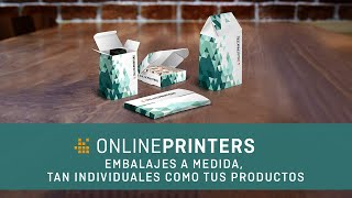 Onlineprinters, embalajes a medida, tan individuales como tus productos
