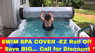 Крышка для плавательного спа и джакузи Roll up SPA-Cover от компании Comfort SPA - бассейны и СПА бассейны, комплектация зон отдыха - видео 1
