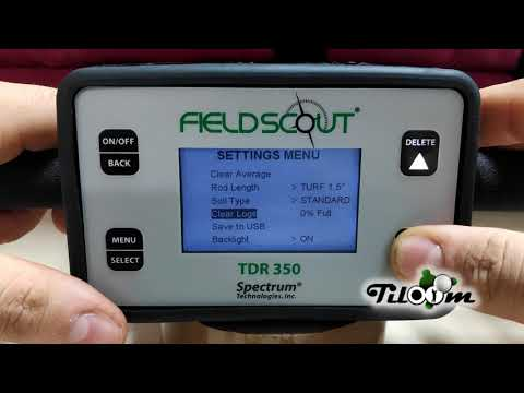 Configuración de TDR 350/150 | Sensor de humedad de suelo