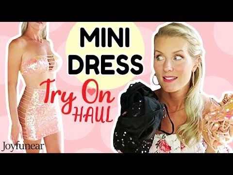 MINI DRESS TRY ON HAUL | New Joyfunear Dresses!