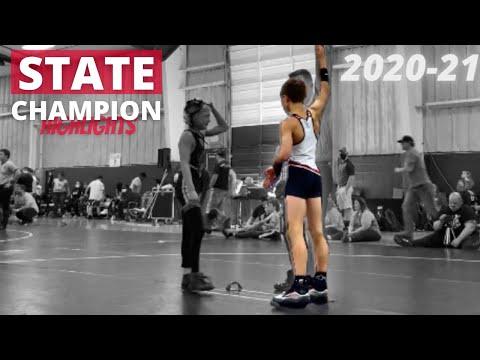 My 2020-21 State Champion Wrestling Highlights!