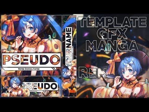 """[TEMPLATE] Design Complet """"Rem Halloween"""" de Re:Zero! (Youtube, Twitter, Discord,...)"""