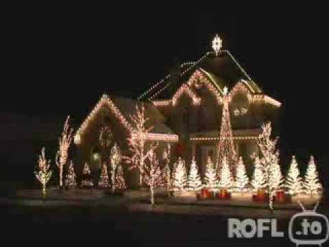 Hammer Weihnachtsbeleuchtung am Haus und Weihnachtsbaum zum Beat ( zur Musik ) ^^  !