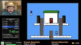 Super Mario Bros. 2 speedrun in 9:59 by Arcus