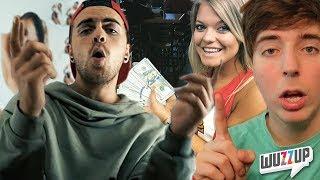 YouTube-Star zahlt 10.000$ für zwei Glas Wasser! - Simon Will Disstrack - WuzzUp!?