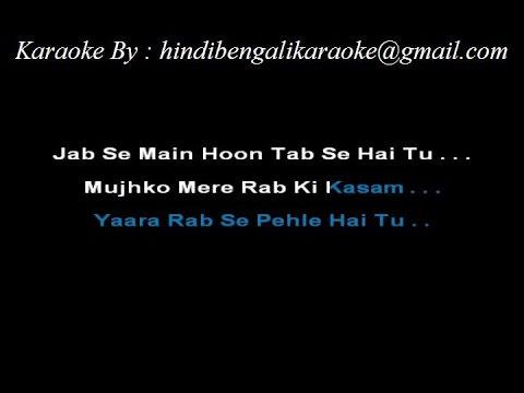 Jaane Dil Mein Kab Se Hai Tu - Karaoke - Mujhse Dosti Karoge - Sample