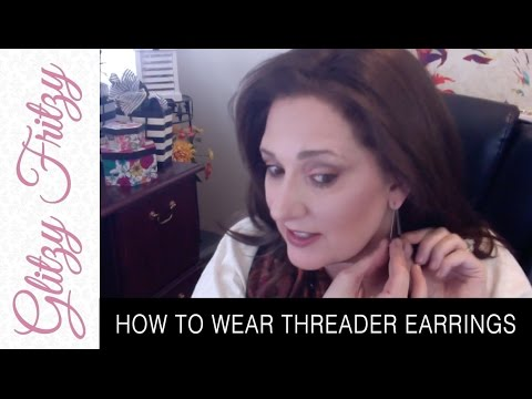 How to Wear Threader Earrings